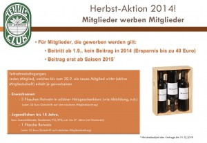 Herbst-Aktion 2014!
